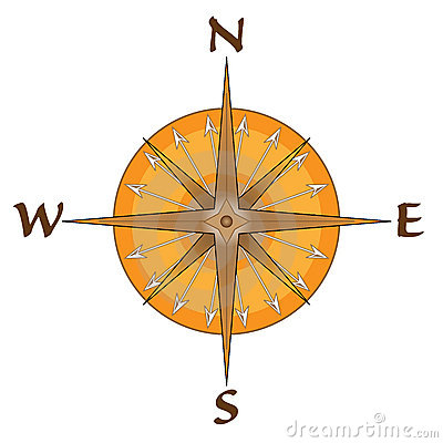 Compass Points Earth Global Directions Royalty Free Stock Photo.