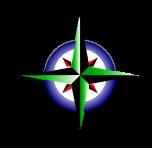 Compass points clipart.