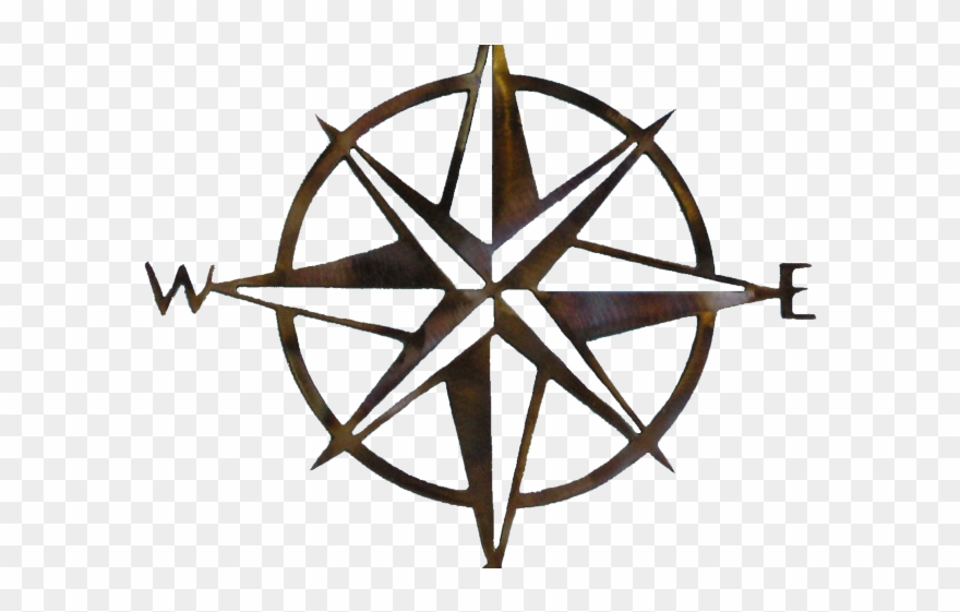 Simple Compass Rose.