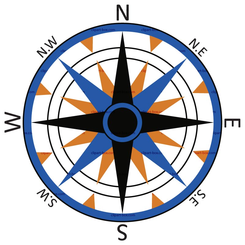 Clipart compass rose free.