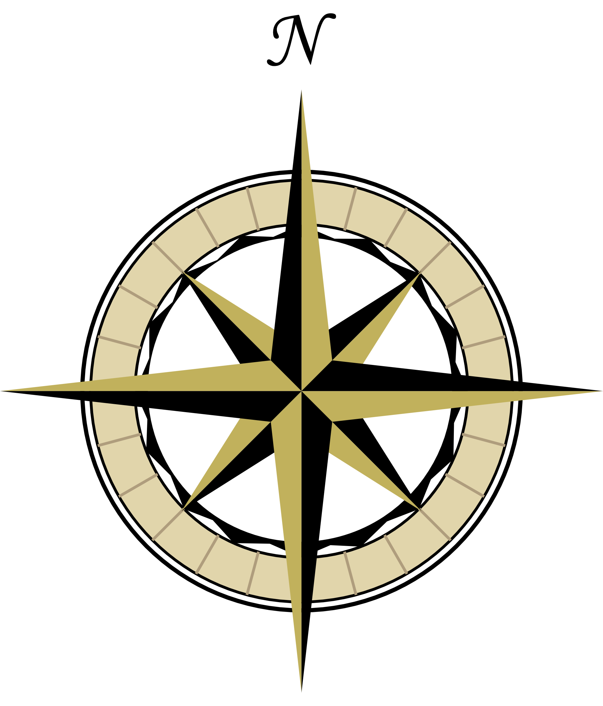 Point of the compass clipart #6