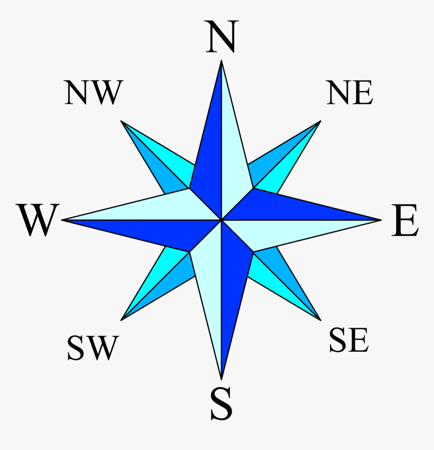 Free Download Of Compass Rose Icon Clipart.