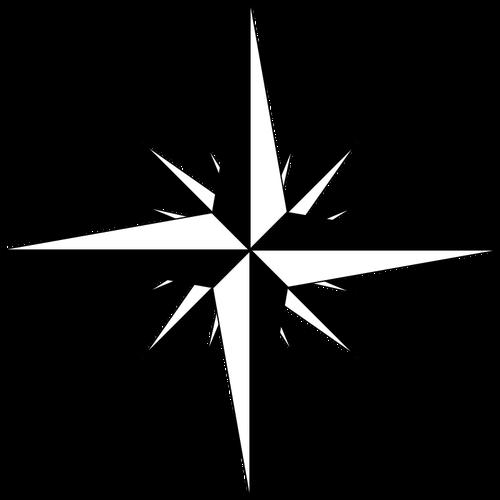 Compass rose vector sketch.