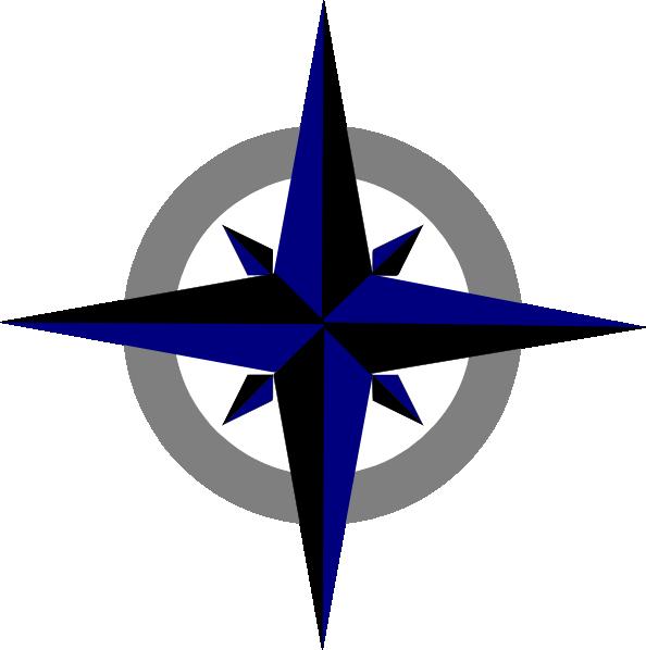 Bluegrey Compass Rose Clip Art at Clker.com.