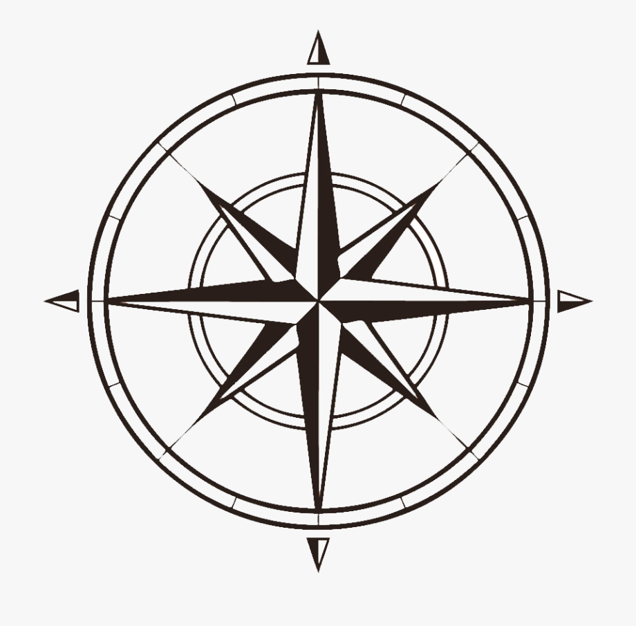 Compass That Shows North, West, South , Clipart.