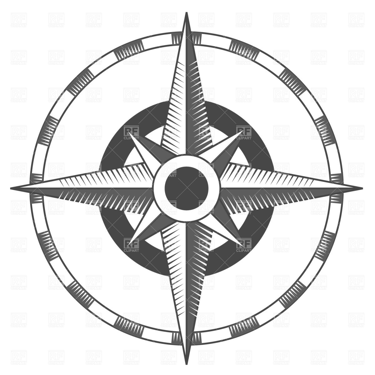 Vintage compass rose Stock Vector Image.