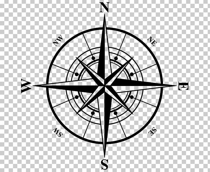 Compass Rose PNG, Clipart, Angle, Area, Artwork, Black And White.