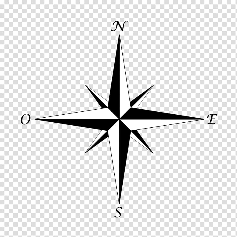 Compass rose North, compass transparent background PNG clipart.
