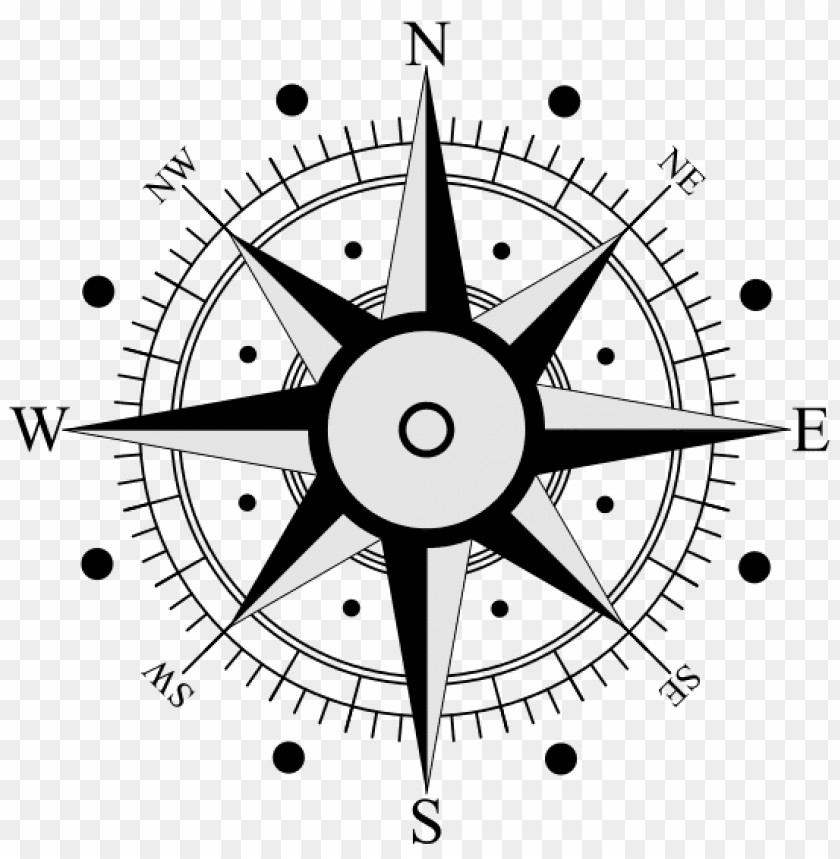 gold compass rose png PNG image with transparent background.