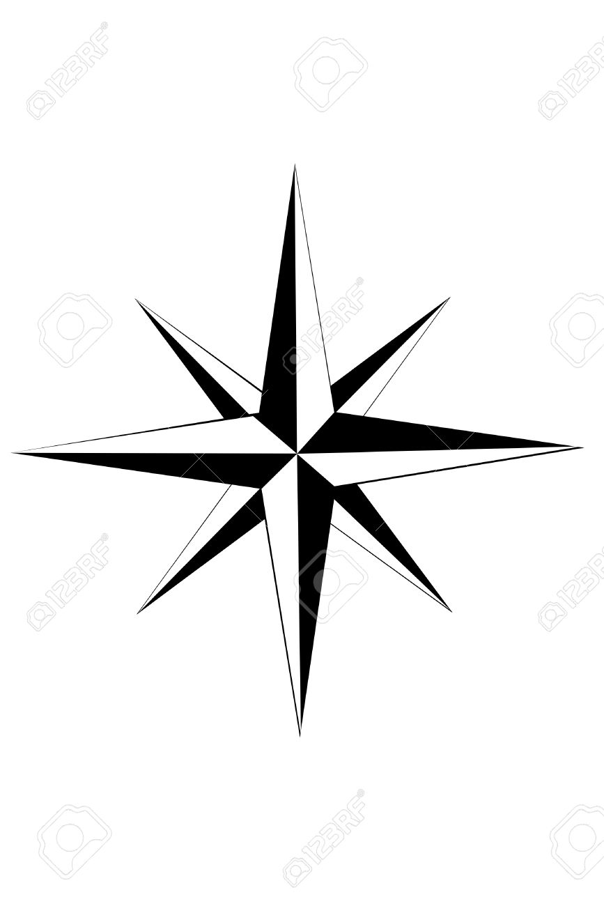 Compass Star Free Download Clip Art.