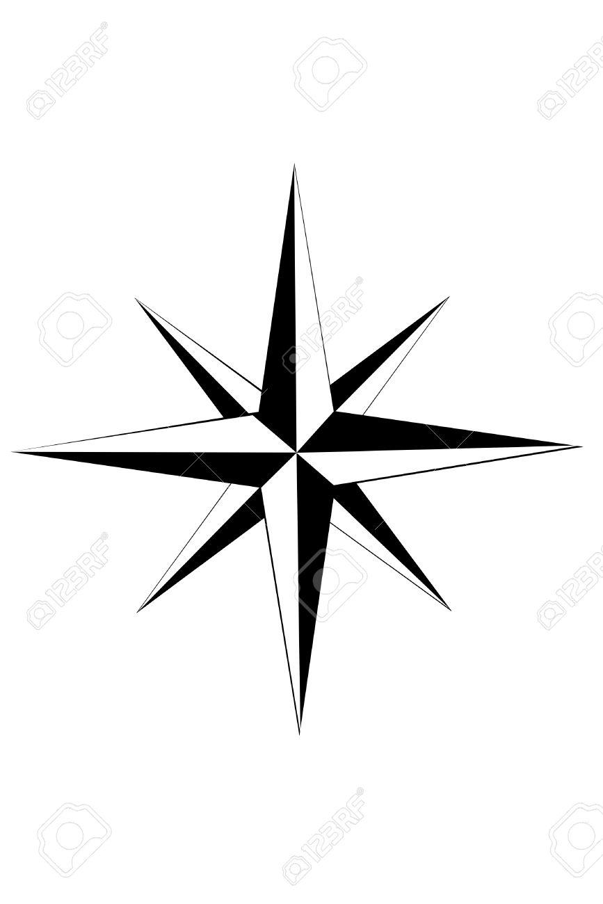 Compass Star Free Download Clip Art.
