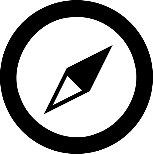 Vector image of compass map symbol.