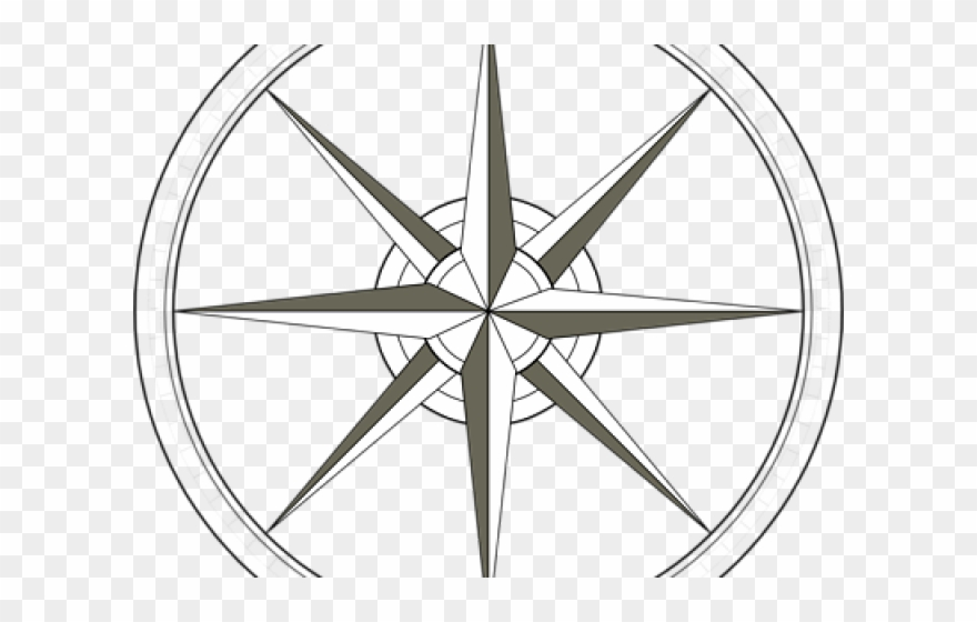 South Clipart Compass Symbol.