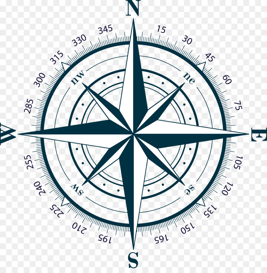 Compass Rose Drawing clipart.