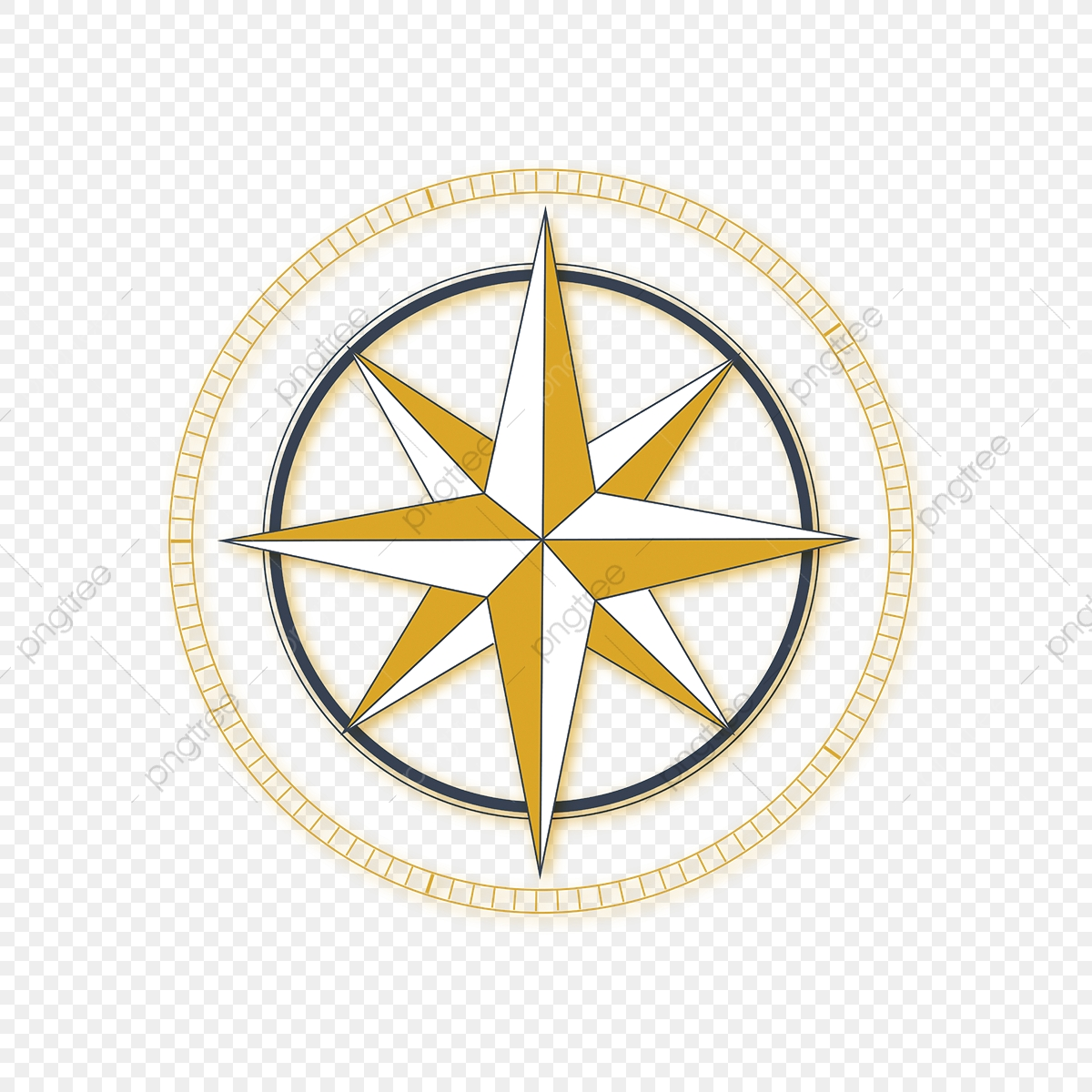 Golden Circle Compass Vector, Compass, Direction, Sunset PNG and.