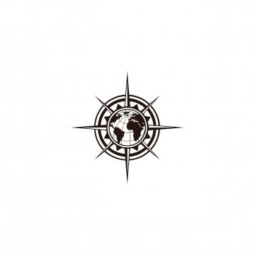 Compass Vector, Free Download Compass vector, Compass needle, Golden.