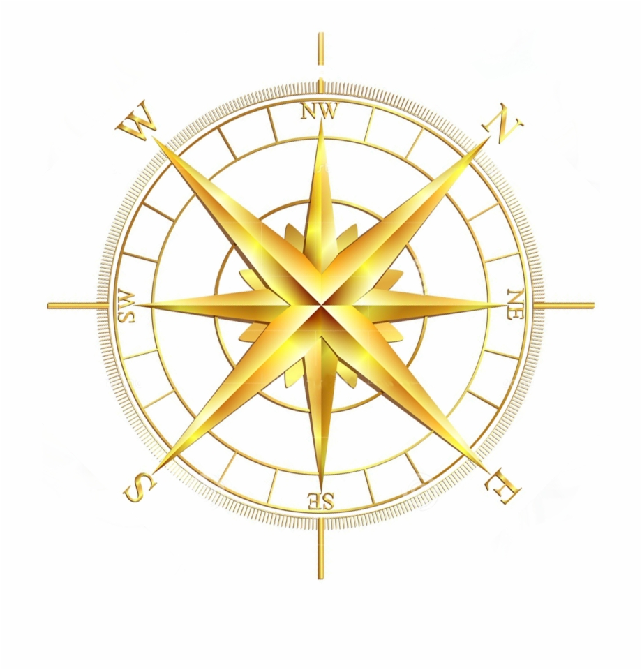 Download Vector Gold Compass Rose Clipart Compass Rose.