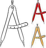 Clipart of Divider Compasses k5957115.