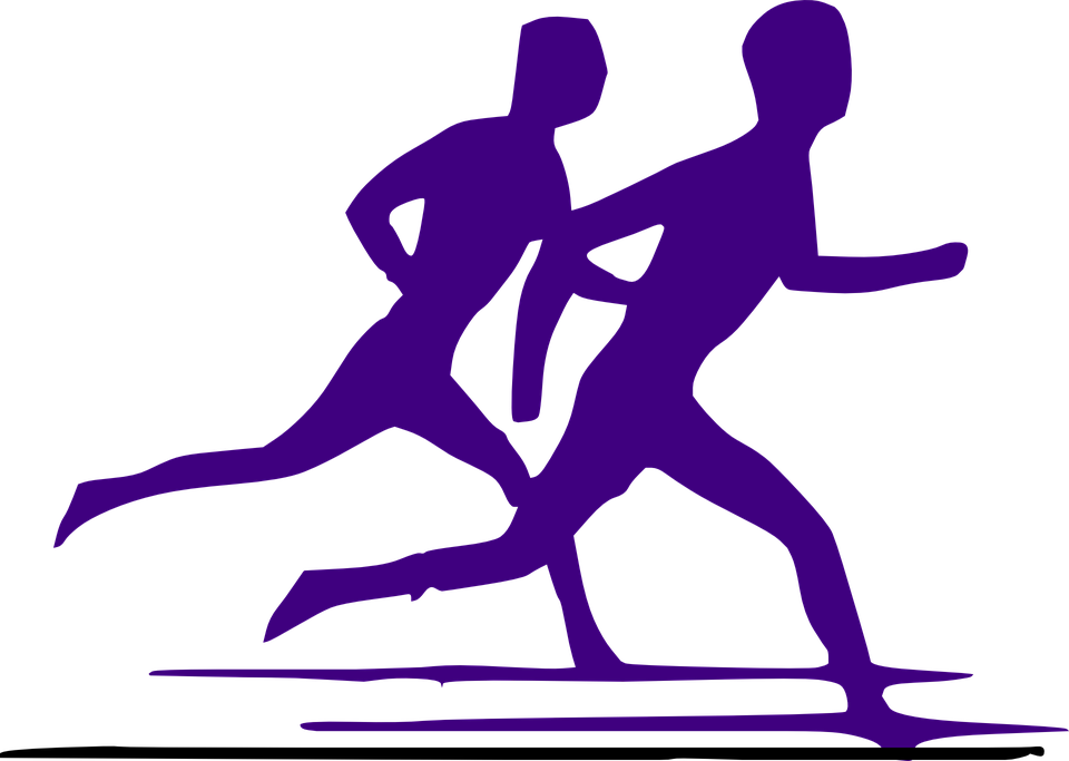 Free vector graphic: Runners, Competition, Silhouette.