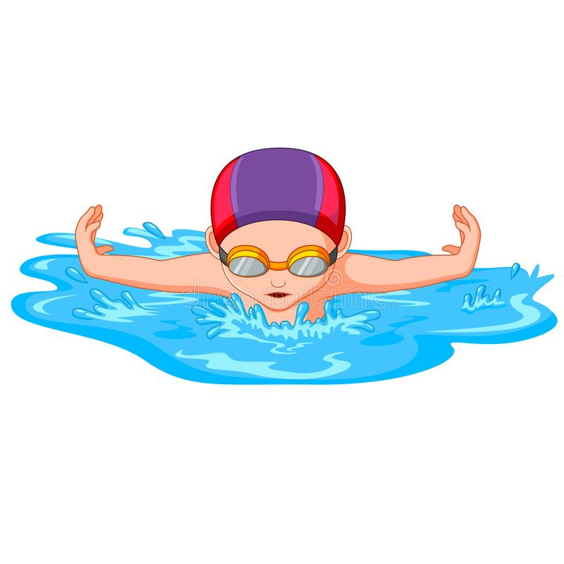 Competition Swimmer Stock Illustrations.