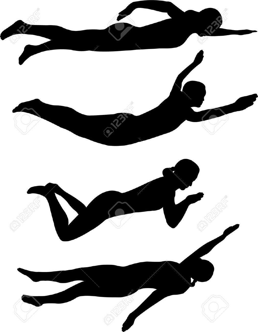 Image result for Competitive Swimming Clip Art Silhouette.