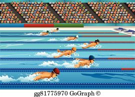 Competitive Swimming Clip Art.
