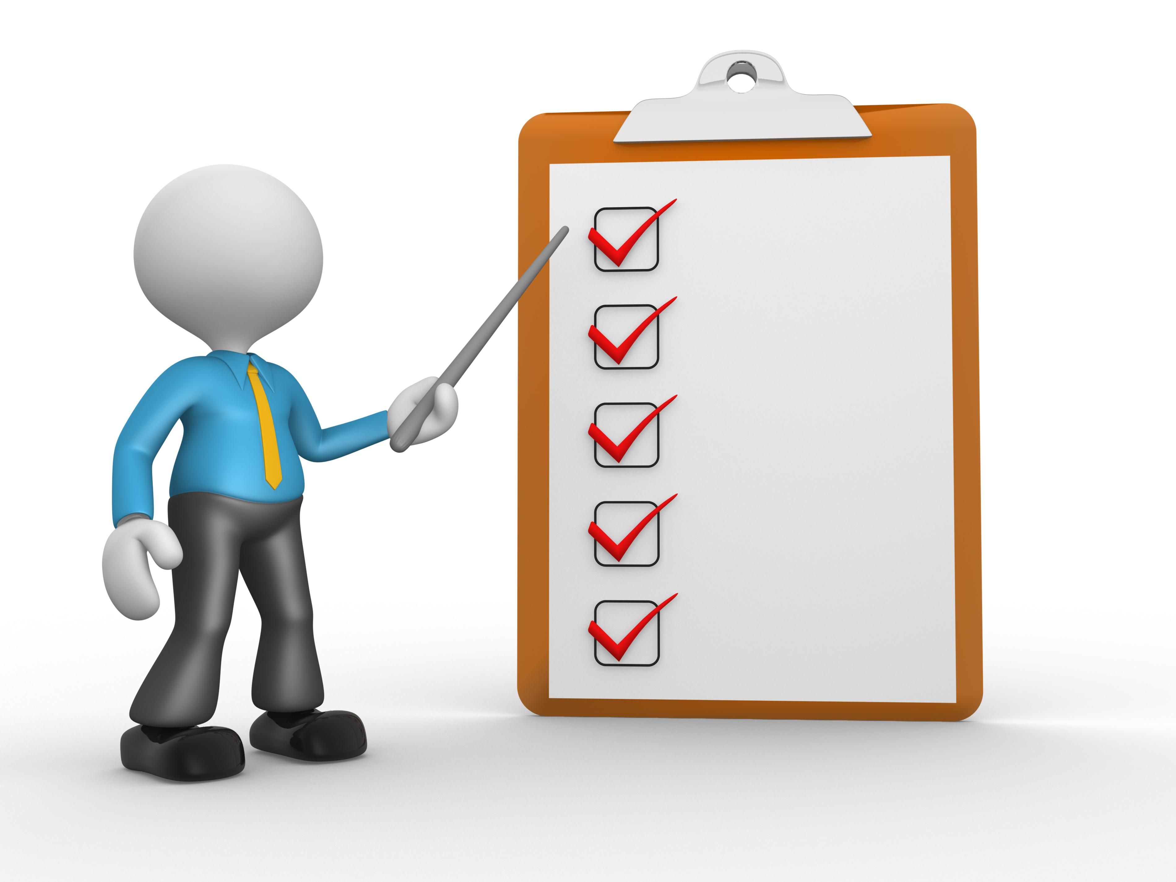 Clip Art Person With Checklist Clipart.