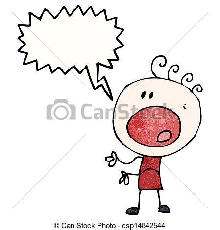 EPS Vector of cartoon complaining man csp14842544.