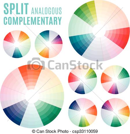 Clipart Vector of The Psychology of Colors Diagram.