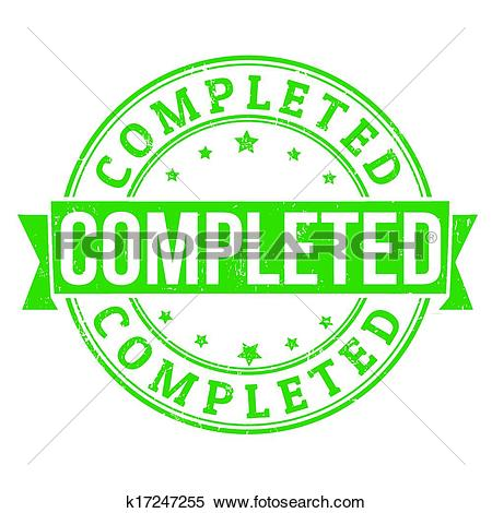 Clipart of Completed stamp k17247255.