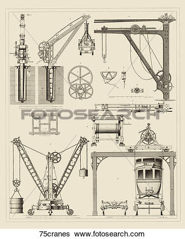 Clipart of Antique Illustration (steel engraving) showing the.