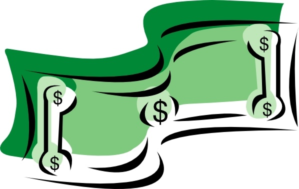 Stylized Dollar Bill Money clip art Free vector in Open office.