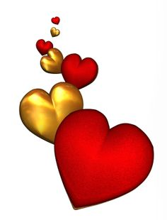 VALENTINE'S DAY RED HEARTS CLIP ART.