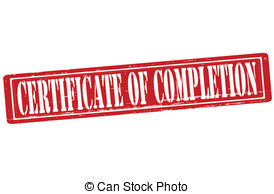 Certificate of completion clipart.