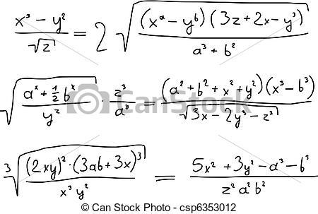 Vector Illustration of Algebra.