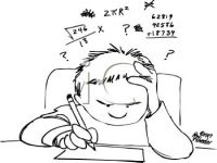 Studying Math Clipart.