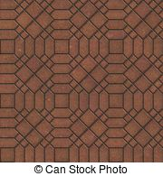 Brown pavement with a complex pattern Illustrations and Stock Art.