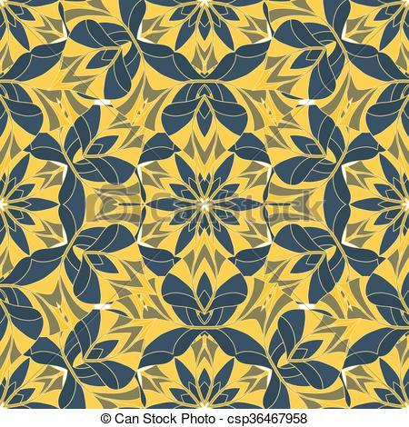 Clipart Vector of A complex vector seamless floral pattern..