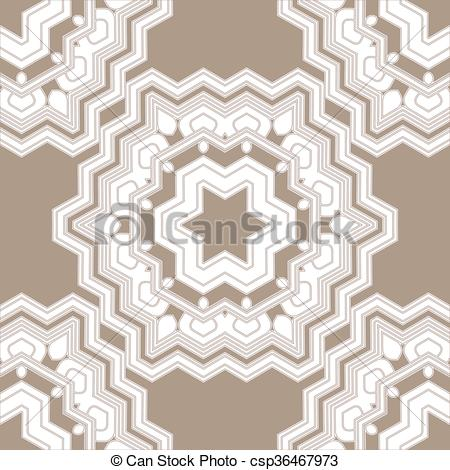 Vectors Illustration of A complex vector seamless floral pattern.