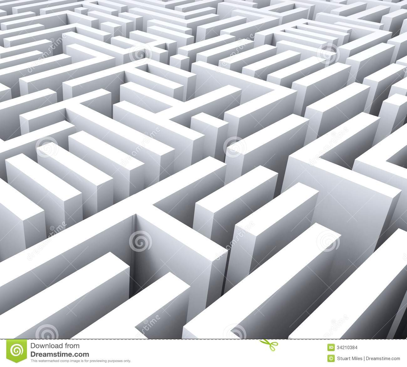 Challenging Maze Shows Complexity And Challenges Stock Images.