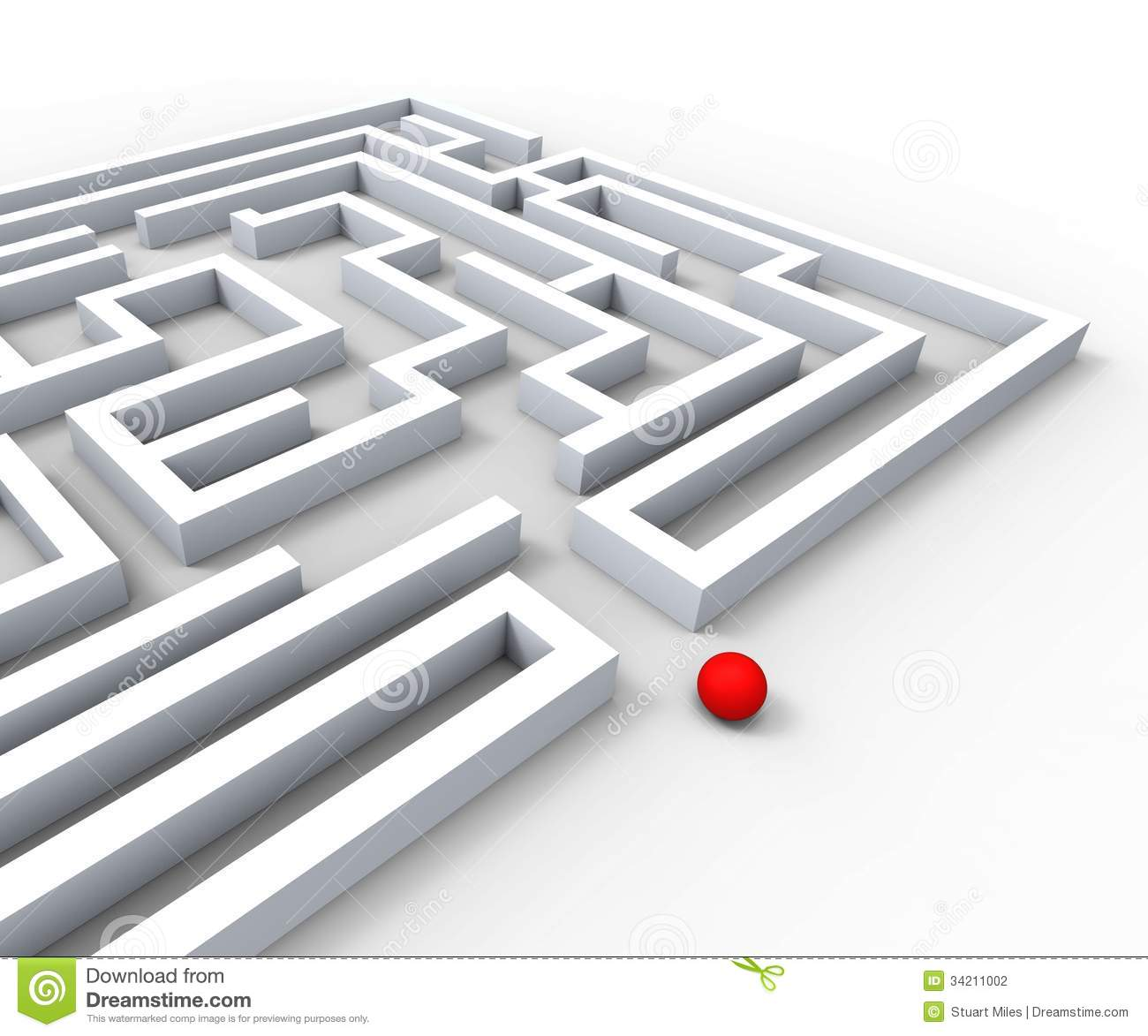 Complicated Maze Shows Complexity And Challenges Stock Photography.