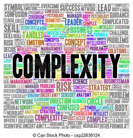 Clip Art of Complexity word cloud shape concept csp22638124.
