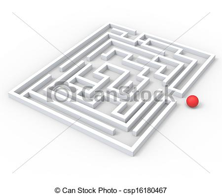 Stock Illustration of Challenging Maze Shows Complexity And.