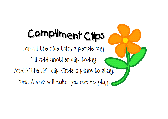 Compliments clipart.