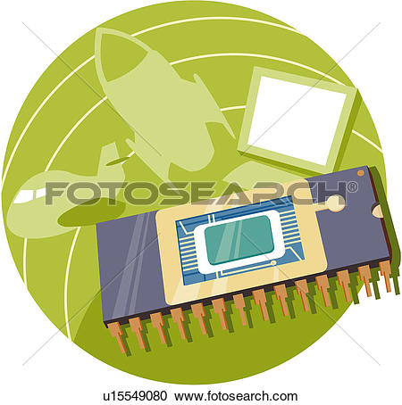 Clipart of part, component, technology, chip, semiconductor, hi.