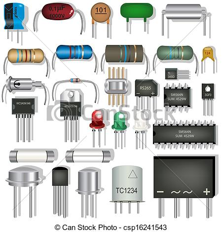 Free electronic component clipart.