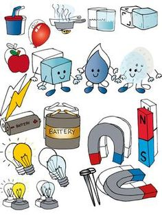 Electronic Components and circuit symbols clip art.