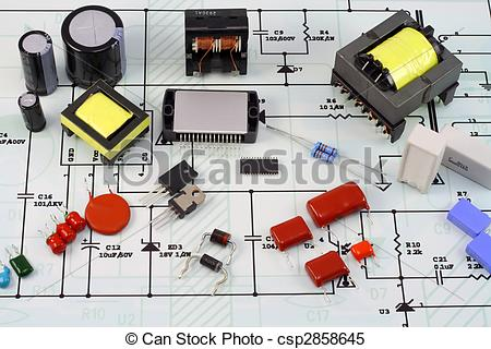 Electronic components clipart.