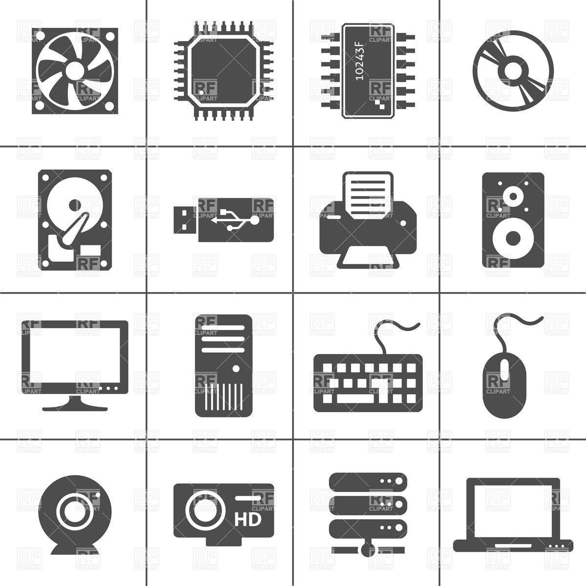 Computer components clipart.