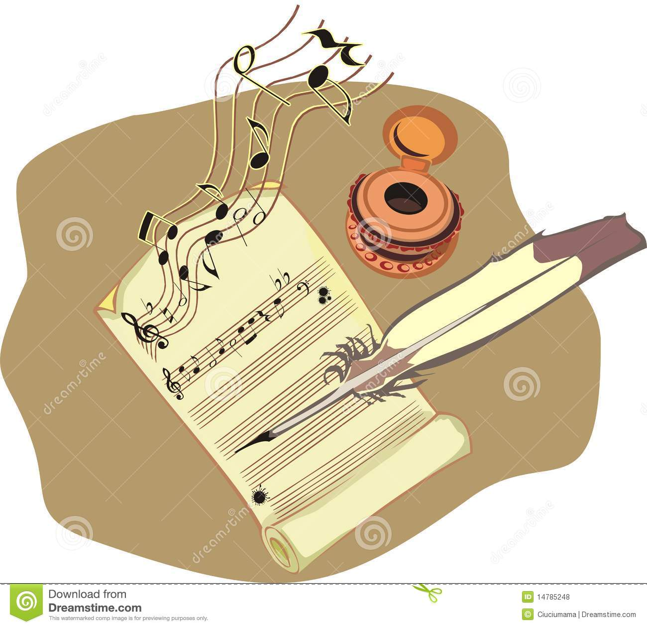 Composing clipart clipground for The craft of musical composition